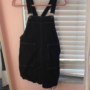 black overall dress *PERFECT FOR TAILGATES*